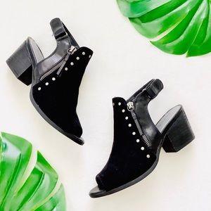 Bare Traps black peep toe low heel ankle booties